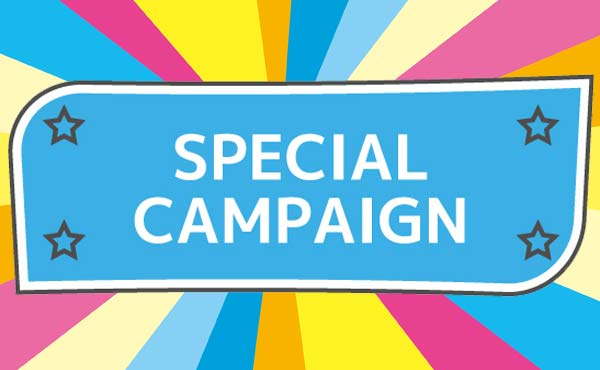 <span>開催中のキャンペーン</span>メーカー開催のキャンペーンや店舗独自のキャンペーンをご案内しています。